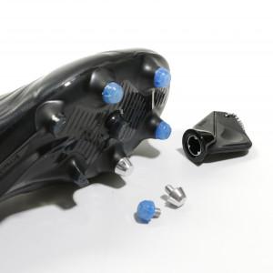 1x taco goma TPU 6mm botas fútbol adidas Studiamonds azul - 1 ud de taco de goma delantero de repuesto para botas adidas (excepto World Cup y Kaiser) de 6 mm - azul traslúcido