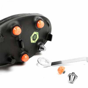 Taco goma TPU 6mm botas fútbol estándar Studiamonds naranja - 1 ud de taco de goma delantero de repuesto para botas Nike, Puma, New Balance,... de 6 mm - naranja flúor