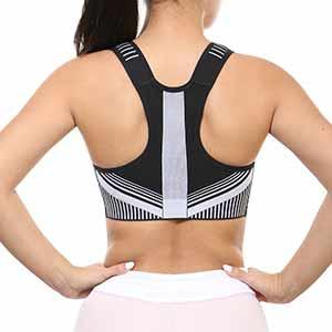 Sujetador deportivo Nike FE/NOM Flyknit - Top deportivo Nike de mujer para fútbol - gris - trasera