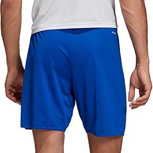 Short adidas Parma 16 - Pantalón corto de poliéster adidas - Azul - trasera