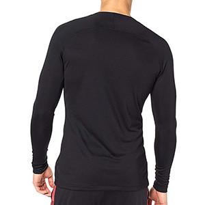 Camiseta interior térmica Nike Dri-Fit Park - Camiseta interior compresiva manga larga Nike - negra - trasera