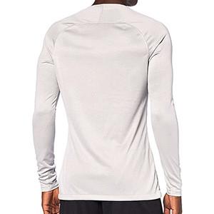 Camiseta interior térmica Nike Dri-Fit Park - Camiseta interior compresiva manga larga Nike - gris - trasera