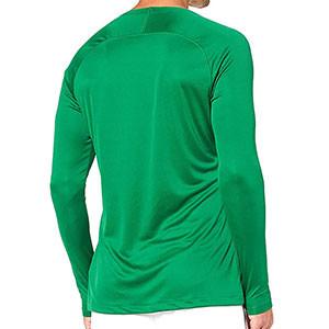 Camiseta interior térmica Nike Dri-Fit Park - Camiseta interior compresiva manga larga Nike - verde oscuro - trasera