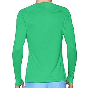 Camiseta interior térmica Nike Dri-Fit Park - Camiseta interior compresiva manga larga Nike - verde - trasera