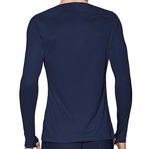Camiseta interior térmica Nike Dri-Fit Park - Camiseta interior compresiva manga larga Nike - azul marino - trasera