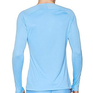 Camiseta interior térmica Nike Dri-Fit Park - Camiseta interior compresiva manga larga Nike - azul celeste - trasera