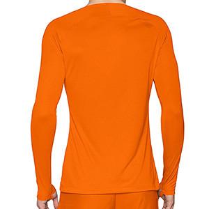 Camiseta interior térmica Nike Dri-Fit Park - Camiseta interior compresiva manga larga Nike - naranja - trasera