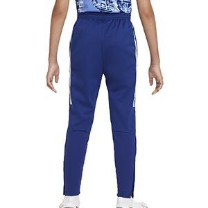 Pantalón Nike niño Therma Academy - Pantalón largo infantil de entrenamiento Nike - azul - trasera