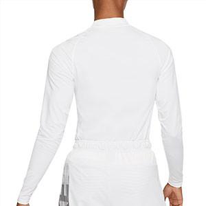 Camiseta interior térmica Nike Pro Mock - Camiseta interior compresiva de manga larga Nike - blanca - trasera