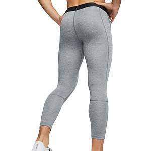 Mallas Nike Pro Tight 3/4 - Mallas de 3/4 interiores compresivas Nike - grises - trasera