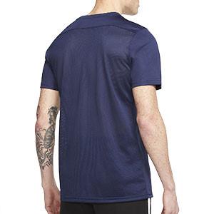 Camiseta Nike Dri-Fit Park 7 - Camiseta de fútbol Nike - azul marino - trasera