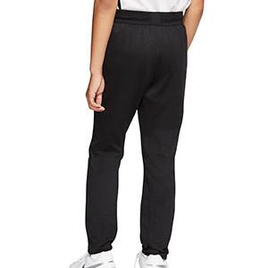 Pantalón largo Nike niño Dry Strike - Pantalón largo de entrenamiento de fútbol infantil Nike - negro - trasera