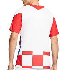 Camiseta Nike Croacia 2020 2021 Stadium - Camiseta primera equipación Nike selección Croacia 2020 2021 - blanca y roja - trasera