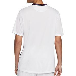 Camiseta Nike Inglaterra 2020 2021 Stadium - Camiseta primera equipación Nike de la selección de Inglatera 2020 2021 - blanca - trasera