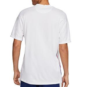 Camiseta Nike 2a Francia 2020 2021 Stadium - Camiseta de la segunda equipación Nike de la selección de Francia 2020 2021 - blanca - trasera