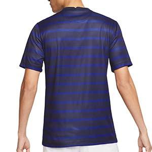 Camiseta Nike Francia 2020 2021 Stadium - Camiseta primera equipación Nike de la selección de Francia 2020 2021 - azul marino - trasera