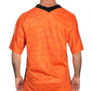 Camiseta Nike Holanda 2020 2021 Stadium - Camiseta primera equipación Nike selección Holanda 2020 2021 - naranja - trasera