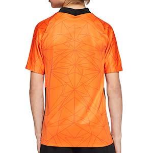 Camiseta Nike Holanda niño 2020 2021 Stadium - Camiseta infantil primera equipación Nike selección Holanda 2020 2021 - naranja - trasera
