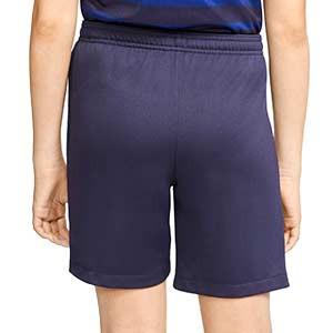 Short Nike Francia niño 2020 2021 Stadium - Pantalón corto infantil primera equipación Nike selección de Francia 2020 2021 - azul marino - trasera