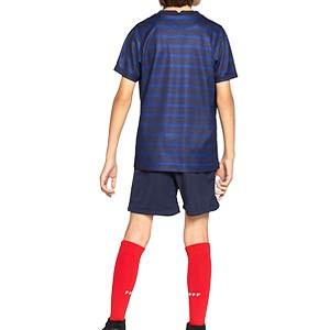 Equipación Nike Francia niño 3 - 8 años 2020 2021 - Kit niño Nike primera equipación selección Francia 2020 2021 - azul marino - trasera