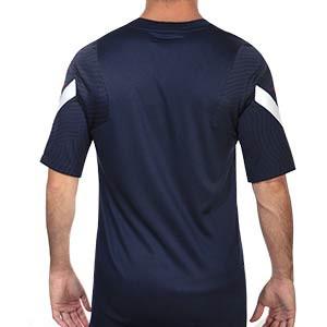 Camiseta Nike Francia entreno 2020 2021 Strike - Camiseta de entrenamiento Nike de la selección francesa 2020 2021 - azul marino - trasera