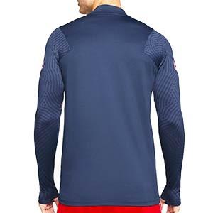 Sudadera Nike Croacia entreno 2020 2021 Strike - Sudadera de entrenamiento Nike de la selección croata 2020 2021 - azul marino - trasera