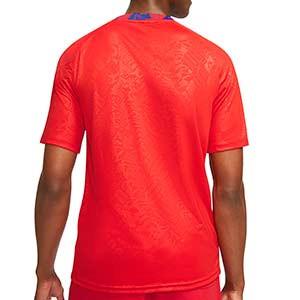 Camiseta Nike Inglaterra pre-match 2020 2021 - Camiseta calentamiento pre partido Nike selección inglesa 2020 2021 - roja - trasera