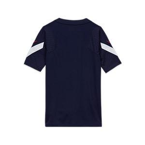 Camiseta Nike Francia niño entreno 2020 2021 Strike - Camiseta infantil de entrenamiento Nike de la selección francesa 2020 2021 - azul marino - trasera