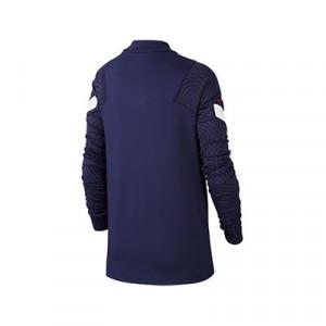 Sudadera Nike Francia niño entreno 2020 2021 Strike - Sudadera infantil de entrenamiento Nike selección francesa 2020 2021 - azul marino - trasera