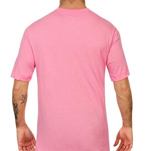 Camiseta algodón Nike Barcelona Evergreen Crest 2 - Camiseta de algodón infantil Nike del FC Barcelona 2020 2021 - rosa - trasera