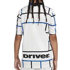 Camiseta Nike 2a Inter niño 2020 2021 Stadium - Camiseta infantil segunda equipación Nike Inter de Milán 2020 2021 - blanca - trasera