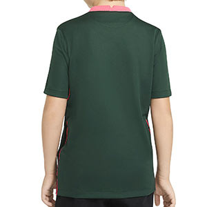 Camiseta Nike 2a Tottenham niño 2020 2021 Stadium - Camiseta infantil segunda equipación Nike Tottenham 2020 2021 - verde oscuro - trasera