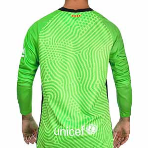 Camiseta Nike Barcelona portero 2020 2021 - Camiseta portero manga larga Nike FC Barcelona 2020 2021 - verde - trasera