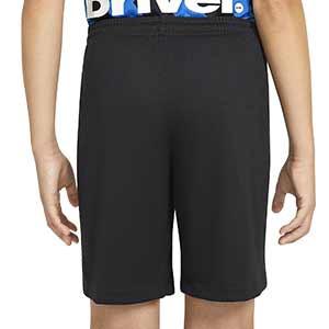 Short Nike Inter niño 2020 2021 Stadium - Pantalón corto infantil Nike primera equipación Inter de Milán 2020 2021 - negro - trasera