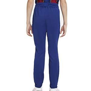 Pantalón Nike Barcelona niño entreno 2020 2021 Strike - Pantalón largo de entrenamiento infantil Nike del FC Barcelona 2020 2021 - azul - trasera