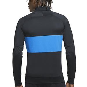 Chaqueta Nike Inter I96 himno 2020 2021 - Chaqueta chándal del himno Nike Inter de Milán 2020 2021 - negra y azul - trasera