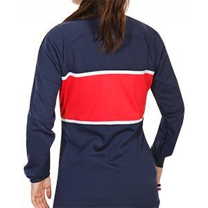 Chaqueta Nike PSG mujer I96 himno 2020 2021 - Chaqueta chándal del himno de mujer Nike Paris Saint-Germain 2020 2021 - azul marino - trasera