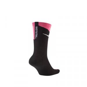 Calcetines Nike Squad Crew Canvas - Calcetines media caña para entrenamiento fútbol Nike - negros y rosas - trasera