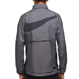 Cortavientos Nike Inter UCL 2020 2021 All Weather Fan - Cortavientos Nike del Inter de Milán 2020 2021 de la Champions League - gris - trasera