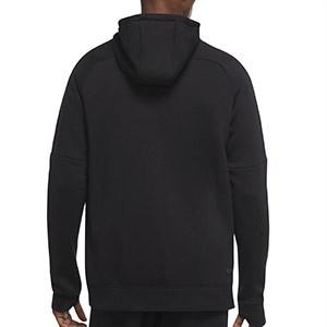 Sudadera Nike Inter Fleece Hoodie UCL - Sudadera con capucha de algodón Nike del Inter de Milán de la Champions League - negro - trasera