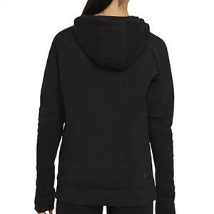 Sudadera Nike Inter niño Fleece Hoodie - Sudadera con capucha infantil de algodón del Inter de Milán - negra - trasera