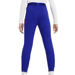 Pantalón Nike Chelsea niño entreno UCL 2020 2021 Strike - Pantalón largo infantil de entrenamiento Nike del Chelsea FC de la Champions League 2020 2021 - azul - trasera
