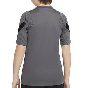 Camiseta Nike Inter niño entreno UCL 2020 2021 Strike - Camiseta de entrenamiento infantil Nike del Inter de Milán de Champions League 2020 2021 - gris - trasera