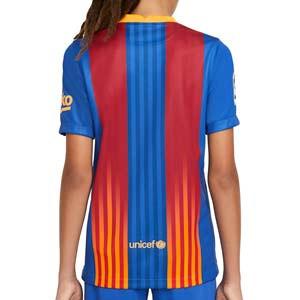 Camiseta Nike 4a Barcelona niño Senyera 2021 Stadium - Camiseta infantil Nike cuarta equipación FC Barcelona 2021 - azulgrana - trasera