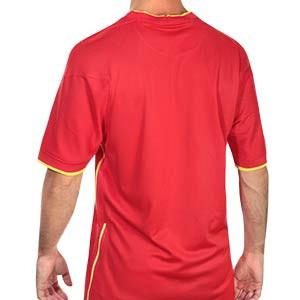 Camiseta Nike China 2020 2021 Stadium - Camiseta primera equipación Nike selección china 2020 2021 - roja - trasera
