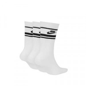 Calcetines Nike Sportswear Essential 3 pares - Pack de 3 pares de calcetines de media caña Nike - blancos - trasera