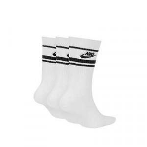 Calcetines media caña Nike Sportswear Essential pack 3 - Pack de 3 calcetines Nike de media caña - blancos - trasera