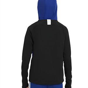 Sudadera Nike niño Dry Academy Hoodie - Sudadera con capucha infantil Nike - azul - trasera