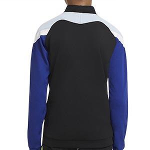 Chaqueta Nike niño Dry Academy - Chaqueta de chándal de fútbol infantil Nike - negra y azul - trasera