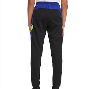 Pantalón Nike niño Dry Academy - Pantalón largo de entrenamiento infantil Nike - negro y azul - trasera